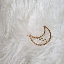 Load image into Gallery viewer, The Foxy Finds Moon Hair Clip back (gold)