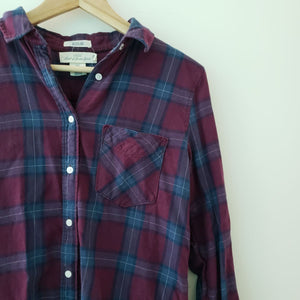 H&M L.O.G.G Purple Plaid Flannel