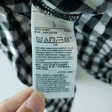 Load image into Gallery viewer, Old Navy Black White Checker Button Down Shirt
