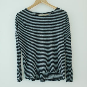 Opus Striped Long Sleeve Top