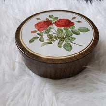 Load image into Gallery viewer, Vintage Rose Floral Tin Container