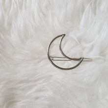 Load image into Gallery viewer, The Foxy Finds Moon Hair Clip (silver)