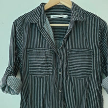 Load image into Gallery viewer, Standard Grace Pinstripe Button Down Shirt