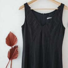 Load image into Gallery viewer, Tristan & Iseult Black Pinstripe Dress