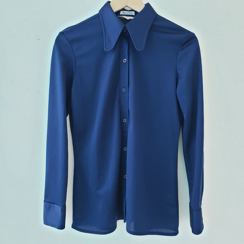 Vintage Fourteen Blue Tapered Collar Shirt