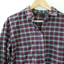 Load image into Gallery viewer, Zara Trafaluc Plaid Flannel Button Down Shirt