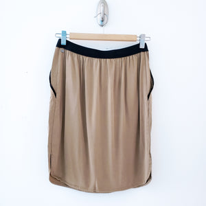 Monk & Lou Tan with Black Trim Skirt