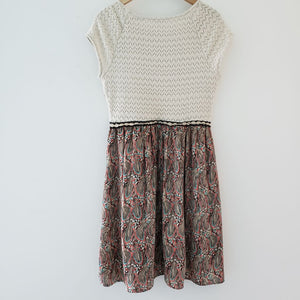 Anthropologie Arcata Cream Knit Feather Dress