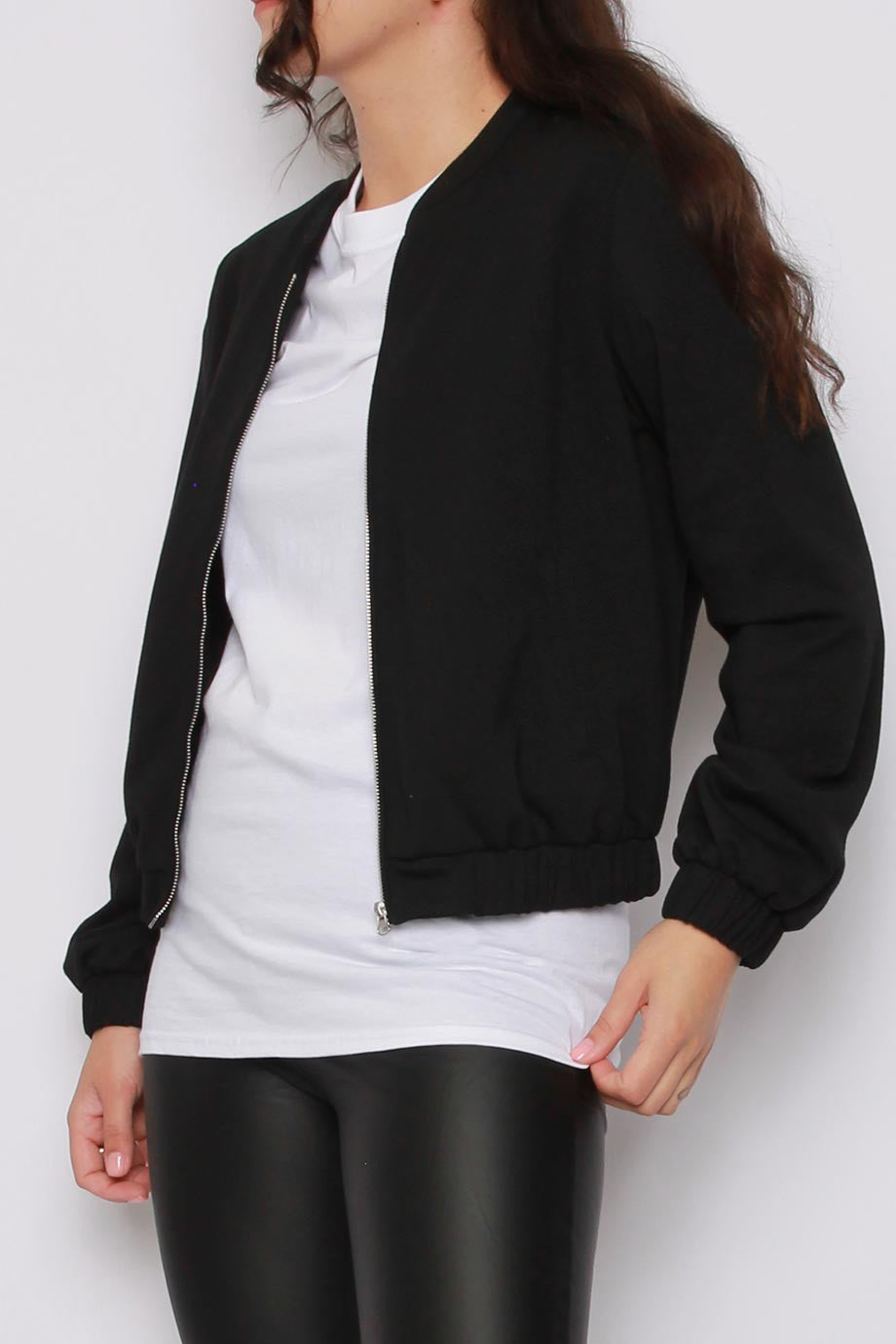 Lota Bomber Jacket | Black Bomber Jacket - Timeless Springs