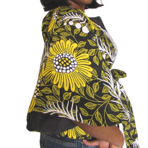 Kora Short Sleeve Jacket| ankara jacket (side view)- Timeless Springs