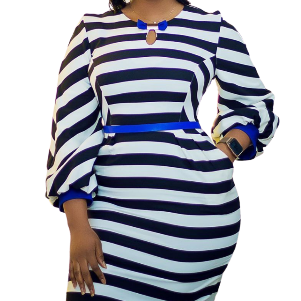 Muna Striped Dress - Timeless Springs