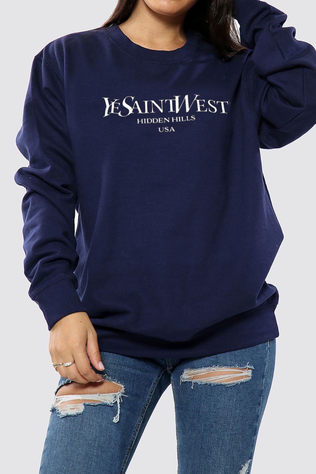 Fola Sweatshirt| Navy Ye Saint Sweatshirt - Timeless Springs
