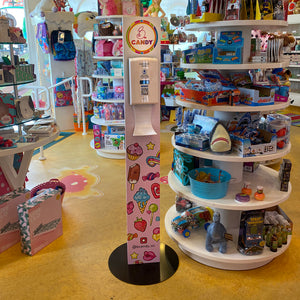 Custom Hand Sanitizer Floor Stand with Automatic Dispenser and Drip Tray