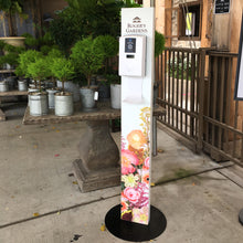 Load image into Gallery viewer, Custom Hand Sanitizer Floor Stand with Automatic Dispenser and Drip Tray