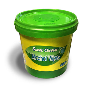 Alcohol Wipes 250 Sheets Container