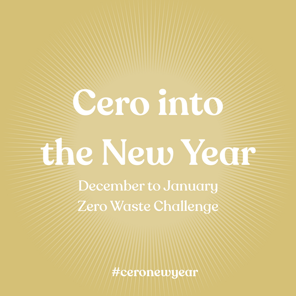Cero into the New Year Zero Waste Challenge
