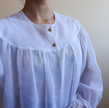 Load image into Gallery viewer, Vintage Sheer White Blouse