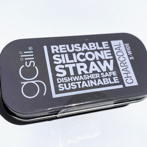 Silicone Straw with Metal Tin