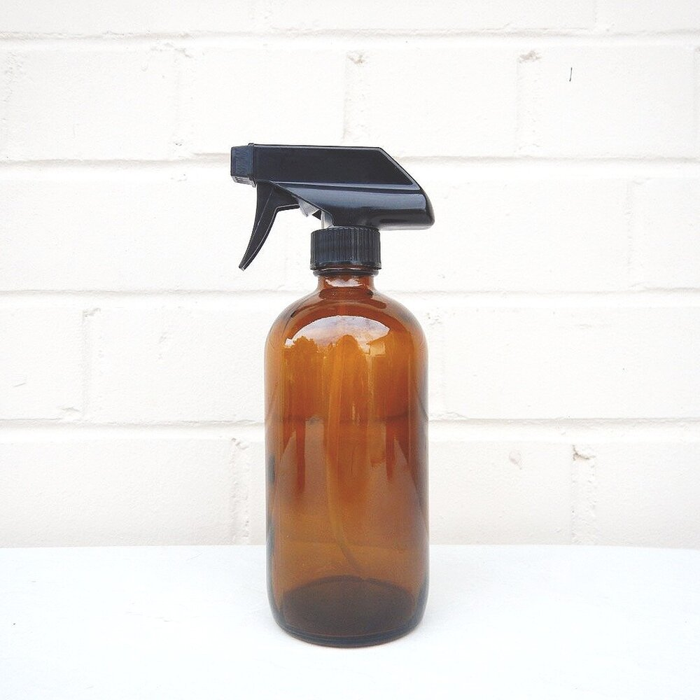 PREORDER: Amber Glass Spray Bottle 16oz