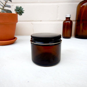 Amber Glass Jar 2oz