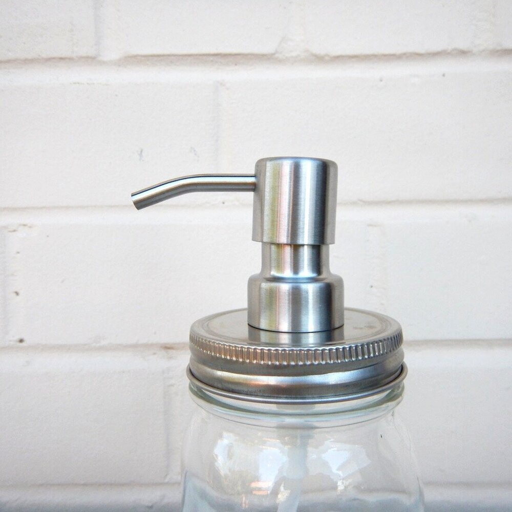 Soap Pump with Regular Lid Satin Finish