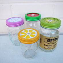 Load image into Gallery viewer, Mason Jar Lids 4 Pack Fruit Straw Hole Regular Lid