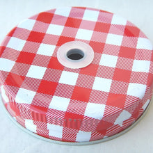 Load image into Gallery viewer, Gingham Mason Jar Lid