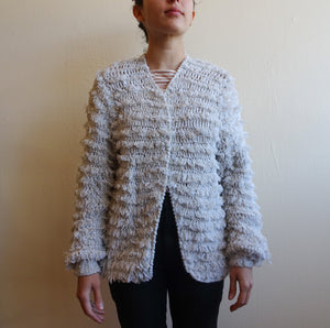 Vintage Shaggy Cardigan Sweater