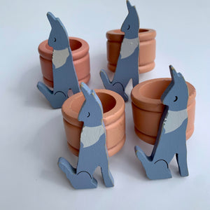 Southwestern Napkin Rings with Howling Coyotes