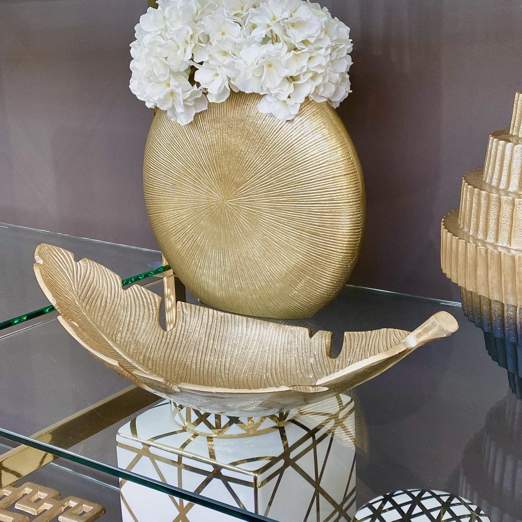 Antoine Gold Curved Leaf Dish Accessories