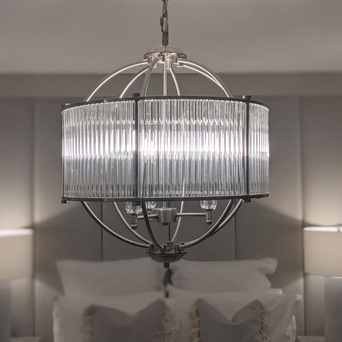 Ari 3 Bulb Glass Tube Pendant Light Lighting
