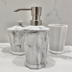 Charles Marble Effect Silver Soap Dispenser