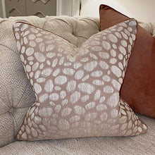 Load image into Gallery viewer, Daphne Pebble Print Blush Cushion - 43 x 43cm