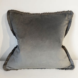 Elliot Tassel Trim Grey Cushion - 45 x 45cm