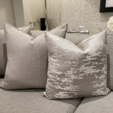 Load image into Gallery viewer, Hailes Platinum Cotton and Satin Mix Cushion Cushion