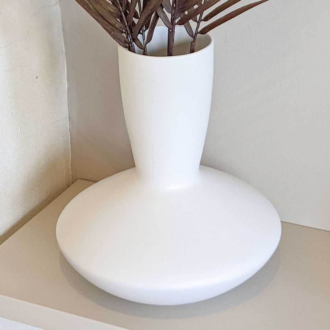Harrogate Abstract White Vase OB