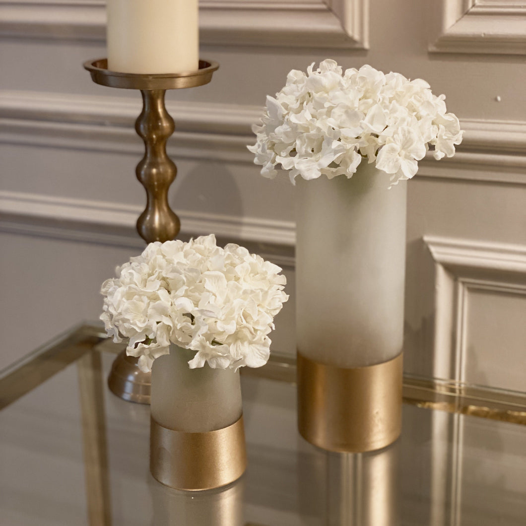 Humaira Large Gold & White Vase Accessories