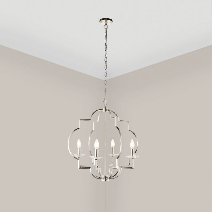 Lucina Silver Candle Effect Pendant Light Lighting