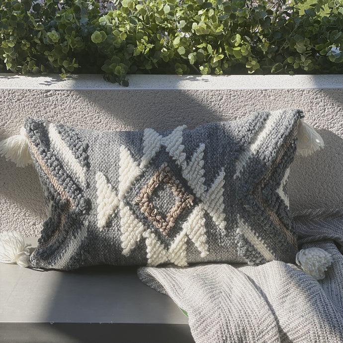 Lula Tufted Grey & Cream Cushion Accessories