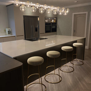 Manhattan Champagne & Gold Bar Stool