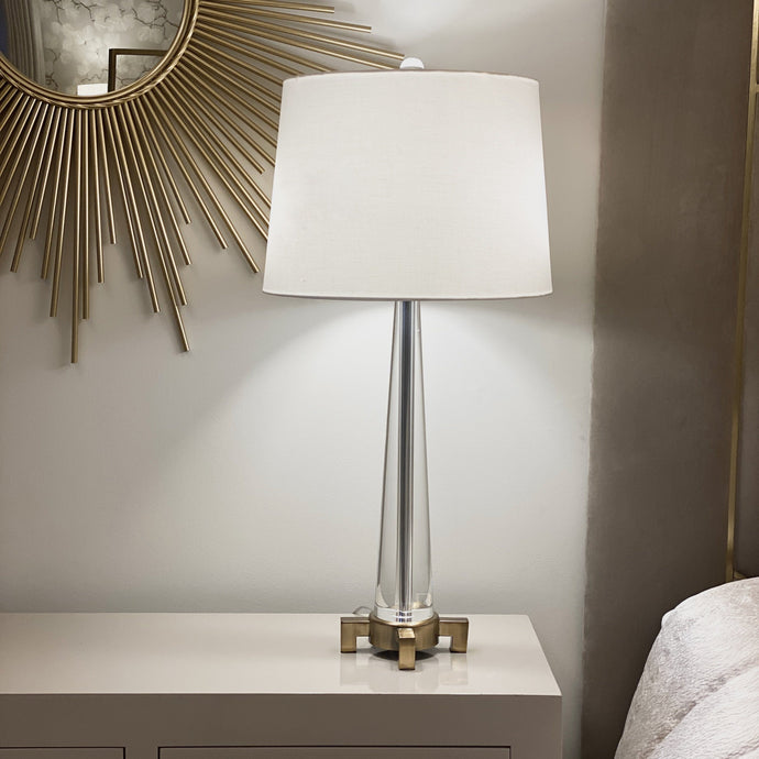 Marino Solid Glass & Brass Table Lamp Lighting