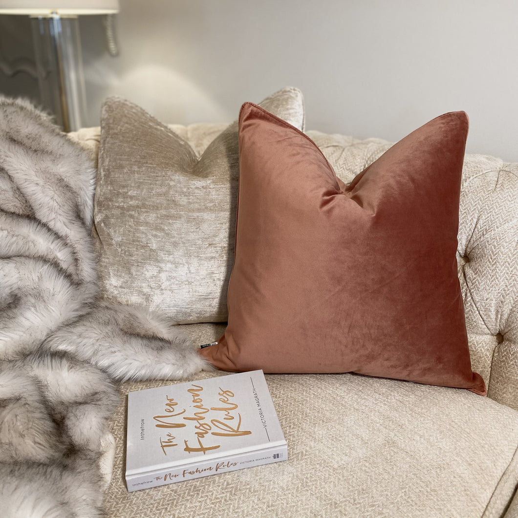 Penelope Luxe Pink Cushion - 50 x 50cm