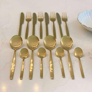 Pharaoh Gold Finish 16 Piece Cutlery Set