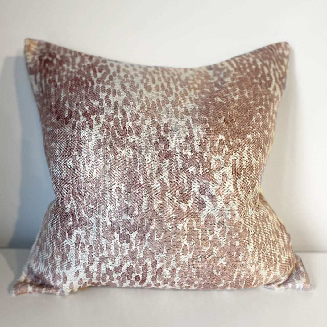 Rebecca Watercolour Print Pink Cushion - 45 x 45cm