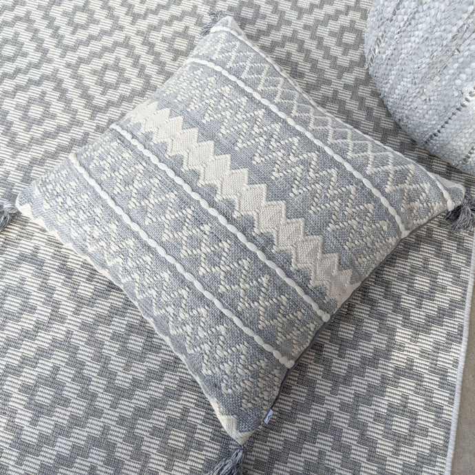 Rovigo Grey XL Cushion with Tassel Detail Cushion