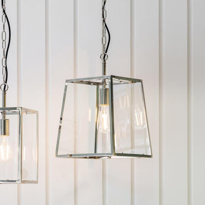 Stockholm 1 Bulb Silver Pendant Lighting