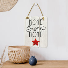 Load image into Gallery viewer, Prinz Patriotic White Door and Wall Hanger with Raised Icon Home Sweet Home