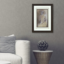 "Load image into Gallery viewer, 16.5"" x 22"" Female Figure Silhouette Wall Art, Framed & Matted"