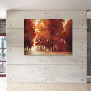 Autumn Glow 40-inch by 30-inch Wrapped Canvas Wall Art