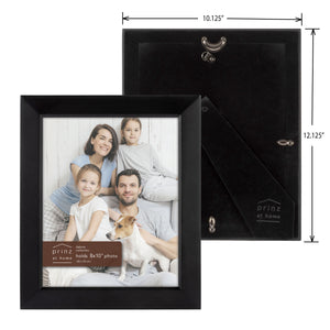 Set of Three, Dakota 8-Inch by 10-Inch Wood Picture Frame, Black